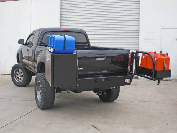 Aluminess - Aluminess 210058 Rear Bumper with Brush Guard & Swing Arms-no Hitch Toyota Tacoma 2005-2011