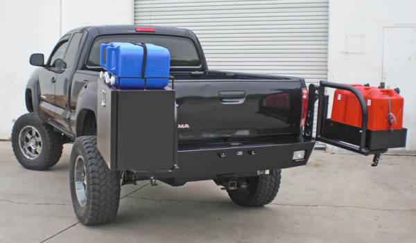 Aluminess - Aluminess 210111 Rear Bumper with Brush Guard & Swing Arms (Stock Hitch) Toyota Tacoma 2005-2011