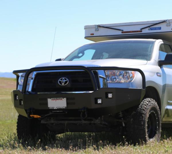 Aluminess - Aluminess 210006 Front Bumper with Brush Guard Toyota Tundra 2007-2013