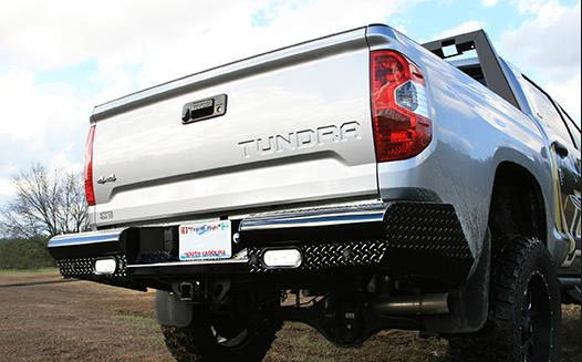 Fab Fours - Fab Fours TT14-T2850-1 Black Steel Rear Bumper Toyota Tundra 2014-2018