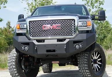Fab Fours - Fab Fours GM14-C3151-1 Winch Front Bumper with Sensors GMC 2500HD/3500 2015-2019