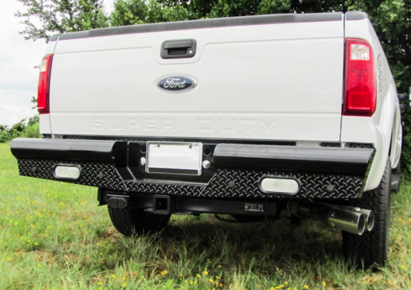 American Built - American Built 2HF23992 Pipe Rear Bumper with Lights Ford F250/F350 1999-2016