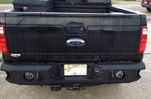 Hammerhead Bumpers - Hammerhead 600-56-0297 Rear Bumper with Sensors Ford Excursion