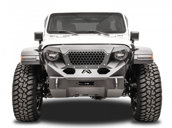 Fab Fours - Fab Fours GR4650-1 Front Grumper Jeep Wrangler JL 2018-2019