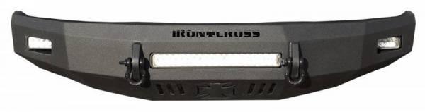 Iron Cross - Iron Cross 40-315-16-MB Matte Black Low Profile Front Bumper GMC Sierra 1500 2016-2018