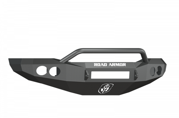 Road Armor - Road Armor 44064Z-NW Front Stealth Non-Winch Bumper with Round Light Holes + Pre-Runner Guard Dodge RAM 2500/3500 2006-2009 *BARE STEEL*