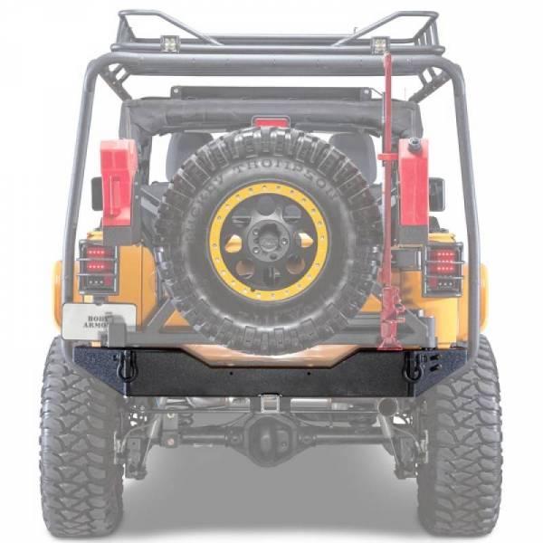 Body Armor - Body Armor JK-2395 Rear Bumper with Adjustable Shaft Jeep Wrangler JK 2007-2018