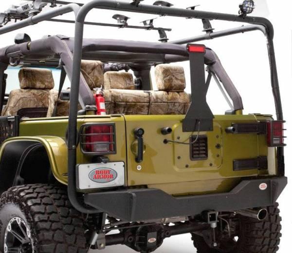 Body Armor - Body Armor JK-2961 Rear Bumper without Tire Carrier Mount Jeep Wrangler JK 2007-2018