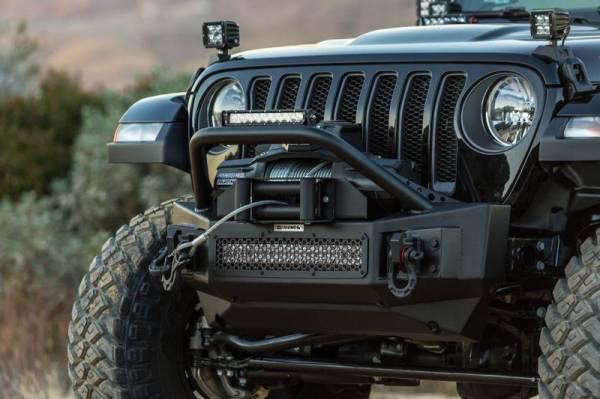 Go Rhino - Go Rhino 331101T Rockline Rear Bumper with Stubby Bar Jeep Wrangler JL 2018-2019