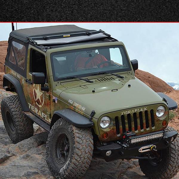 MCE Fenders - MCE Fenders FFJKG2 Hi-Clearance Flat Flares Factory Width 2 Front and 2 Rear Jeep Wrangler JK 2007-2018