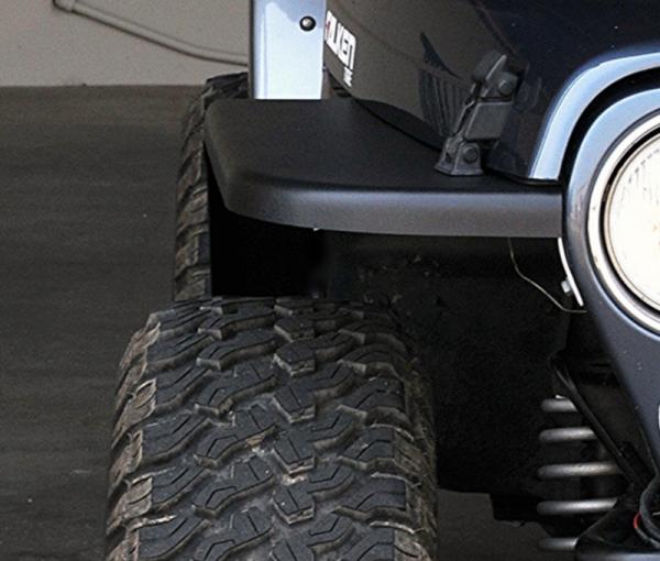 """MCE Fenders - MCE Fenders FFTJG2-4.5-F 2 Front 4.5"""" Wide Flat Fender Flares Jeep Wrangler TJ/LJ 1997-2006"""