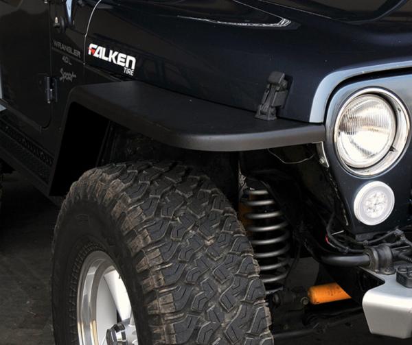 "MCE Fenders - MCE Fenders FFTJG2-6 2 Front and 2 Rear 6"" Wide Flat Fender Flares Jeep Wrangler TJ/LJ 1997-2006"