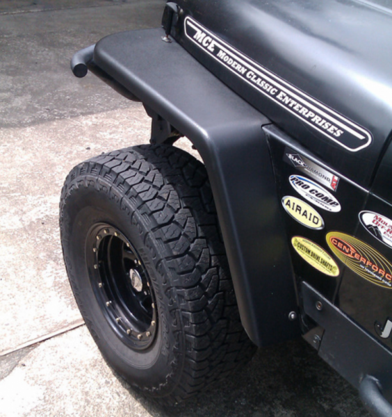 "MCE Fenders - MCE Fenders FFYJG2-6 2 Front and 2 Rear 6"" Wide Flat Fender Flares Jeep Wrangler YJ 1987-1995"