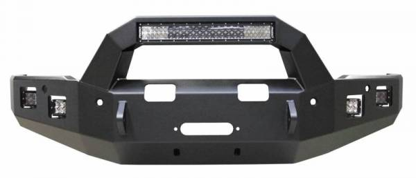 Backwoods - Backwoods BWDAR2-101XXIIB Brute Front Bumper with Bull Bar LED and Winch Ready with Sensor Holes Dodge RAM 2500/3500 2010-2018