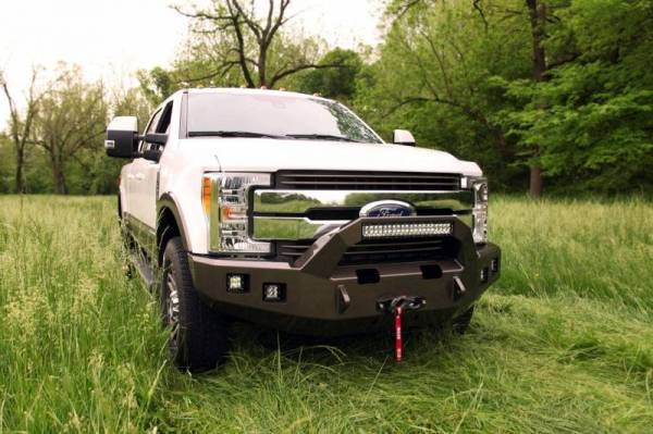 Backwoods - Backwoods BWFH25-101XXLLB Brute Front Bumper with Bull Bar LED and Winch Ready without Sensor Holes Ford F250/F350 2017-2018