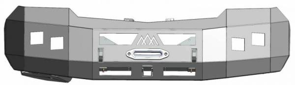 Backwoods - Backwoods BWMEMS-103XXCCB Nomad Front Bumper No Bull Bar Winch Ready without Sensor Holes Mercedes Sprinter 2014-2018