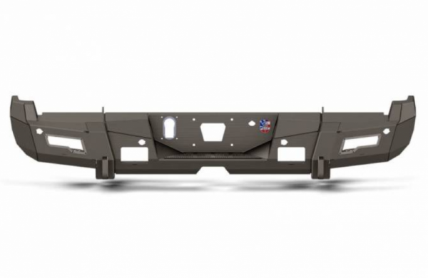 Road Armor - Road Armor 3152DR-A0-P2-MR-BH Identity Rear Bumper without Shackle Mounts and Beauty Ring Raw Steel Chevy Silverado 2500HD/3500 2015-2019