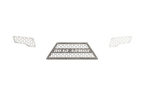 Road Armor - Road Armor 6112DRMH Identity Rear Bumper Component Hyve Mesh Raw Stainless Steel Ford F250/F350 2011-2016