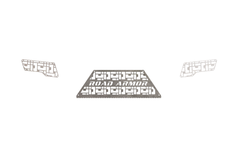 Road Armor - Road Armor 6172DRMD Identity Rear Bumper Component iD Mesh Raw Stainless Steel Ford F250/F350 2017-2018