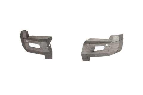 Road Armor - Road Armor 6172DR0 Identity Rear Bumper Component without Shackle Mounts Raw Steel Ford F250/F350 2017-2018