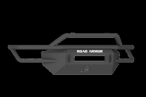 Road Armor - Road Armor SA6004B-NW Sahara Front Non-Winch Bumper Pre-Runner Guard Ford F250/F350 1999-2004