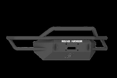 Road Armor - Road Armor SA3774B Sahara Front Winch Bumper Pre-Runner Guard Chevy Silverado 1500 2007-2013