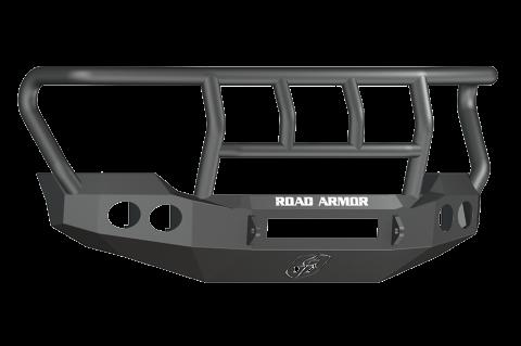 Road Armor - Road Armor 611402B-NW Stealth Front Non-Winch Bumper Titan II Guard Ford F250/F350 2011-2016