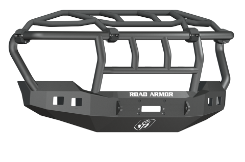 Road Armor - Road Armor 611R3B Stealth Front Winch Bumper Intimidator Guard Ford F250/F350 2011-2016