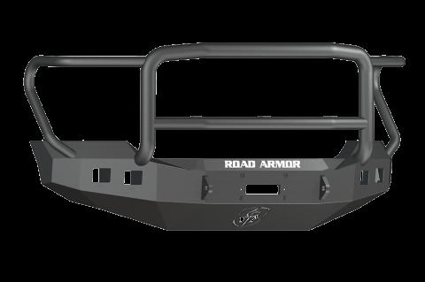 Road Armor - Road Armor 6114R5B Stealth Front Winch Bumper Lonestar Guard Ford F250/F350 2011-2016