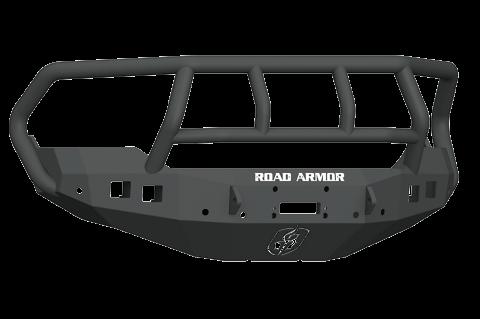 Road Armor - Road Armor 413F2B Stealth Front Winch Bumper Titan II Guard Dodge RAM 1500 2013-2018