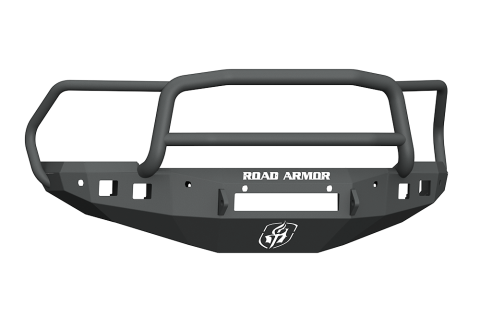 Road Armor - Road Armor 4162F5B-NW Stealth Front Non-Winch Bumper Lonestar Guard with 6 Sensor Holes Dodge RAM 1500 2016-2018
