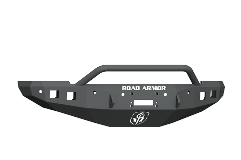 Road Armor - Road Armor 4162F4B Stealth Front Winch Bumper Pre-Runner Guard with 6 Sensor Holes Dodge RAM 1500 2016-2018