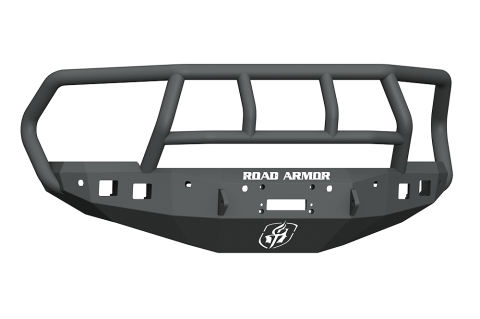 Road Armor - Road Armor 4162F2B Stealth Front Winch Bumper Titan II Guard with 6 Sensor Holes Dodge RAM 1500 2016-2018