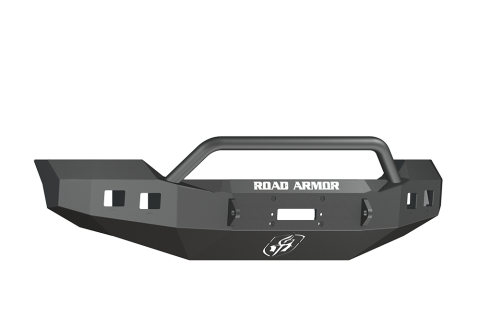 Road Armor - Road Armor 617F4Z Front Stealth Winch Bumper with Square Light Holes + Pre-Runner Ford F250/F350 2017-2018 *RAW STEEL*