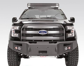 Fab Fours - Fab Fours FF09-H1951-1 Winch Front Bumper Ford F150 2009-2014