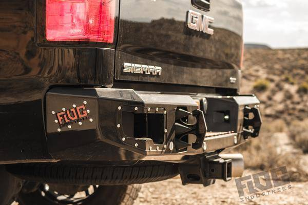 Flog Industries - Flog Industries FISD-G2535-1114R-S Rear Bumper with Sensor Holes GMC Sierra 2500HD/3500 2011-2014