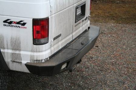 Aluminess - Aluminess 210005.1 Rear Bumper without Brush Guard or Swing Arms Ford E-Series 1992-2013