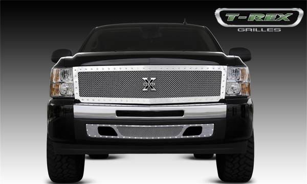 T-Rex Grilles - T-Rex Grilles 6711110 X-Metal Series Studded Mesh Grille