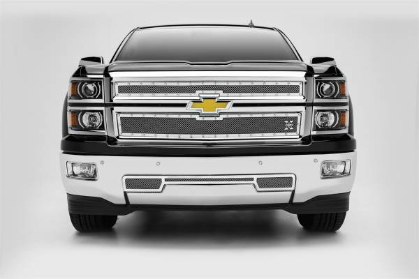 T-Rex Grilles - T-Rex Grilles 6711200 X-Metal Series Studded Mesh Grille Overlay