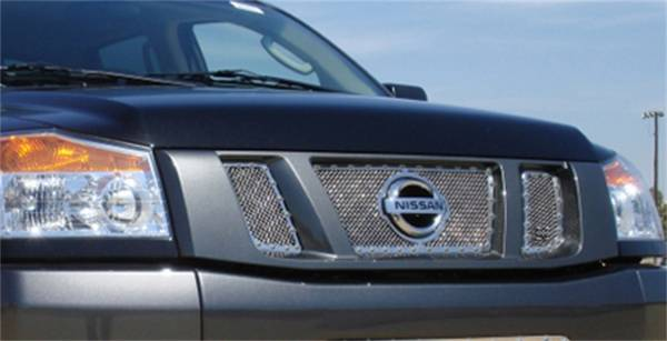 T-Rex Grilles - T-Rex Grilles 6717810 X-Metal Series Studded Mesh Grille