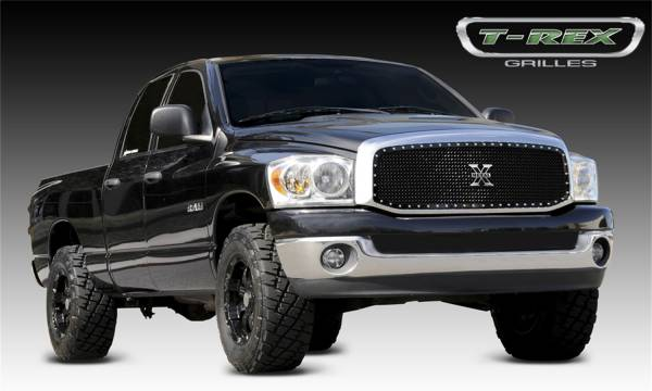 T-Rex Grilles - T-Rex Grilles 6714591 X-Metal Series Studded Mesh Grille