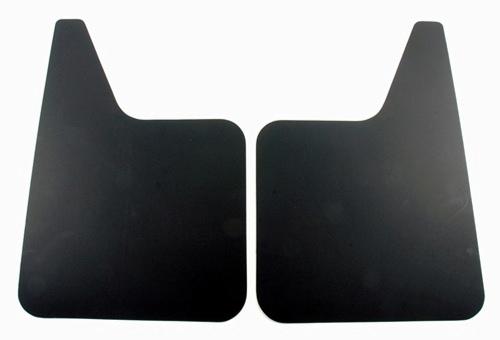 "Contura-Highland - Highland 1005700 18"" X 12"" Black Plastic Mud Flaps Pair"