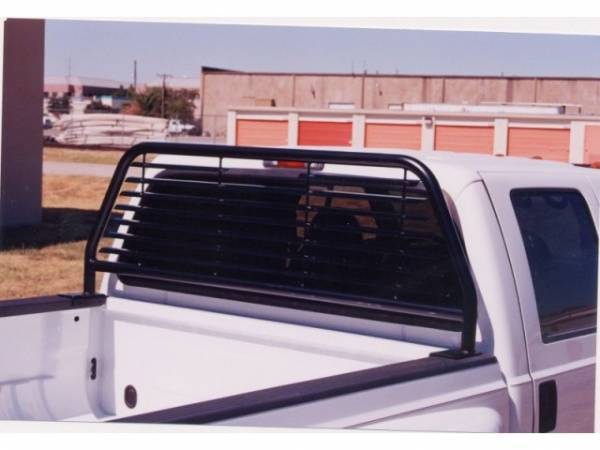 GO Industries - GO 51524B Black Round Tube Headache Rack Dodge Ram 1500 5.7' Bed 2009-2014