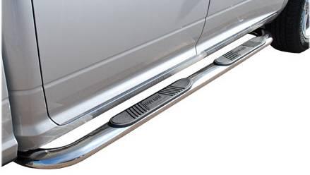 "Luverne - Luverne 440232 4"" Stainless Steel Oval Nerf Bars Dodge Ram Quad Cab 2002-2008"