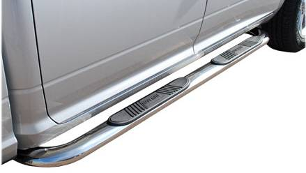 """Luverne - Luverne 440719 4"""" Stainless Steel Oval Nerf Bars Chevy/GMC Silverado/Sierra Crew Cab Standard Box 6.5ft 2001-2012"""