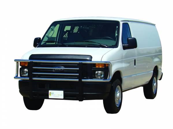 GO Industries - Go Industries 77531 Chrome Big Tex Grille Guard Ford Econoline Van E150/E250/E350/E450/E550 2008-2014