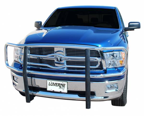 """Luverne - Luverne 330933/330930 Chrome 2"""" Grille Guard Dodge Ram 1500 2009-2013 Must Remove Tow Hooks"""