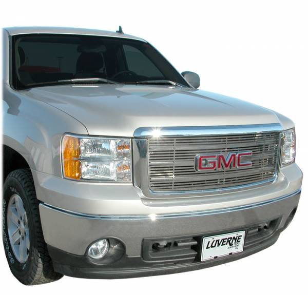 Luverne - Luverne 230741 Horizontal Stainless Steel Grill Insert 2007-2010 GMC Sierra 2500HD/3500