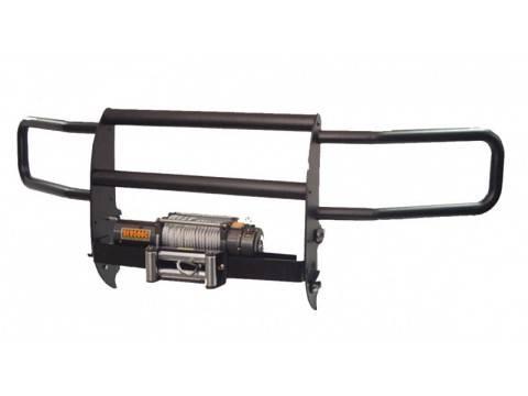 GO Industries - Go Industries 33666B Black Winch System Grille Guard Dodge Ram 1500 2009-2013