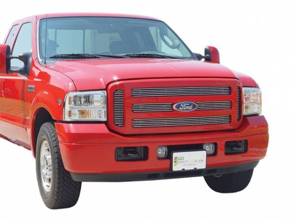 GO Industries - Go Industries 85027 Polished Aluminum Bolt Over Billet Grille Ford F-150 (Except Heritage) (2004-2008) Honeycomb Grille
